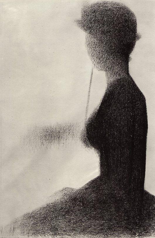 Georges-Seurat-Sitzende-Frau-mit-Regenschirm_600