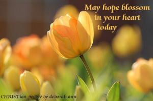 Spring's Hope ~ CHRISTian poetry by deborah ann
